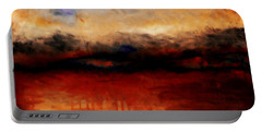 Red Skies At Night Portable Battery Charger