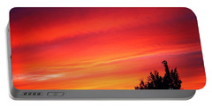 Portable Battery Charger featuring the photograph Red Skies At Night  by Nick Gustafson
