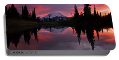 Red Sky At Night Portable Battery Charger by Mike  Dawson
