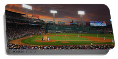 Red Sky Over Fenway Park Portable Battery Charger