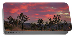 Portable Battery Charger featuring the photograph Red Sky Over Joshua Tree by John Hight