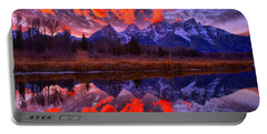 Red Snake River Sunset Reflections Portable Battery Charger