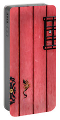 Red Speakeasy Door Portable Battery Charger