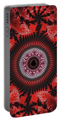 Red Spiral Infinity Portable Battery Charger