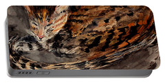 Red Spot Tabby Portable Battery Charger by Nancy Kane Chapman