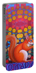 Red Squirrel Portable Battery Charger by Jane Tattersfield
