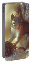 Red Squirrel With Pine Cone Portable Battery Charger