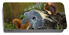 Red Squirrels Portable Battery Charger