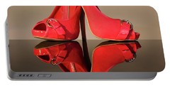 Portable Battery Charger featuring the photograph Red Stiletto Shoes by Terri Waters