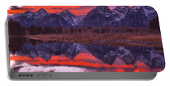 Red Streaks In The Teton Skies Portable Battery Charger