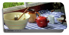 Red Sugar Bowl Portable Battery Charger