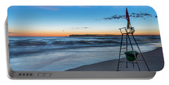 Red Sun In The Sunset Beach - Spiaggia Al Tramonto Portable Battery Charger