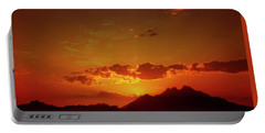 Red Sunset In Africa 2 Portable Battery Charger