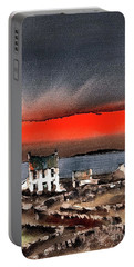 Red Sunset On Bungowla, Aran, Galway Portable Battery Charger