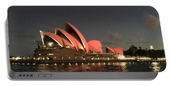 Red Sydney Opera House Portable Battery Charger