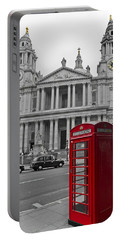 Red Telephone Boxes In London Portable Battery Charger