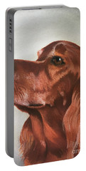 Red The Irish Setter Portable Battery Charger