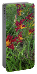 Red Tigerlily Garden Portable Battery Charger