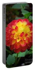 Red Tipped Petals Portable Battery Charger