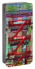 Portable Battery Charger featuring the mixed media Red by Tony Rubino