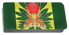 Red Torch Ginger Portable Battery Charger by Debbie Chamberlin