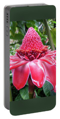 Red Torch Ginger Flower Portable Battery Charger