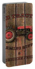 Red Tractor Farming Supply Portable Battery Charger
