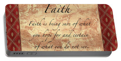 Red Traditional Faith Portable Battery Charger