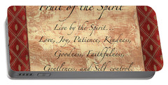 Red Traditional Fruit Of The Spirit Portable Battery Charger by Debbie DeWitt