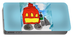 Red Train Portable Battery Charger