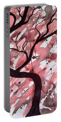 Red Tree Enchantment Portable Battery Charger