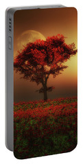 Red Tree In The Evening Portable Battery Charger
