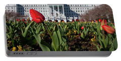 Red Tulip At The Greenbrier Portable Battery Charger