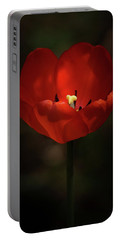 Red Tulip Portable Battery Charger by Ernie Echols