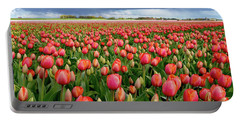 Red Tulip Field Portable Battery Charger
