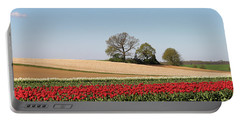 Red Tulips Landscape Portable Battery Charger