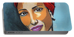 Red Turban Portable Battery Charger