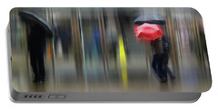 Portable Battery Charger featuring the photograph Red Umbrella by LemonArt Photography