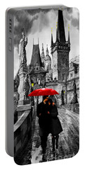 Red Umbrella Portable Battery Charger