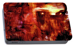 Portable Battery Charger featuring the photograph Red Veil by Linda Sannuti