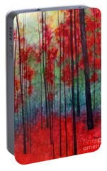 Portable Battery Charger featuring the painting Red Velvet by Hailey E Herrera
