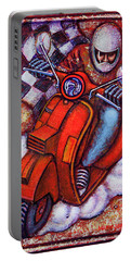 Red Vespa Portable Battery Charger by Mark Jones