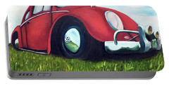 Red Vw Portable Battery Charger