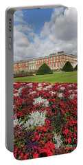 Red White And Blue At Hampton Court Portable Battery Charger