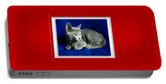 Red, White, Russian Blue Portable Battery Charger