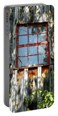 Portable Battery Charger featuring the photograph The Red Window by Sandi OReilly