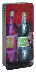 Red Wine Art Portable Battery Charger