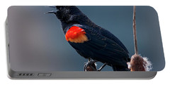 Red-winged Blackbird Singing Portable Battery Charger