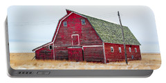 Red Winter Barn Portable Battery Charger