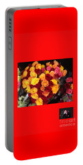 Red Yellow Pink Roses 1 Portable Battery Charger